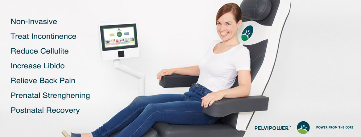 PelviPower chair treatment for incontinenece prenatal strengthening and postnatal recovery