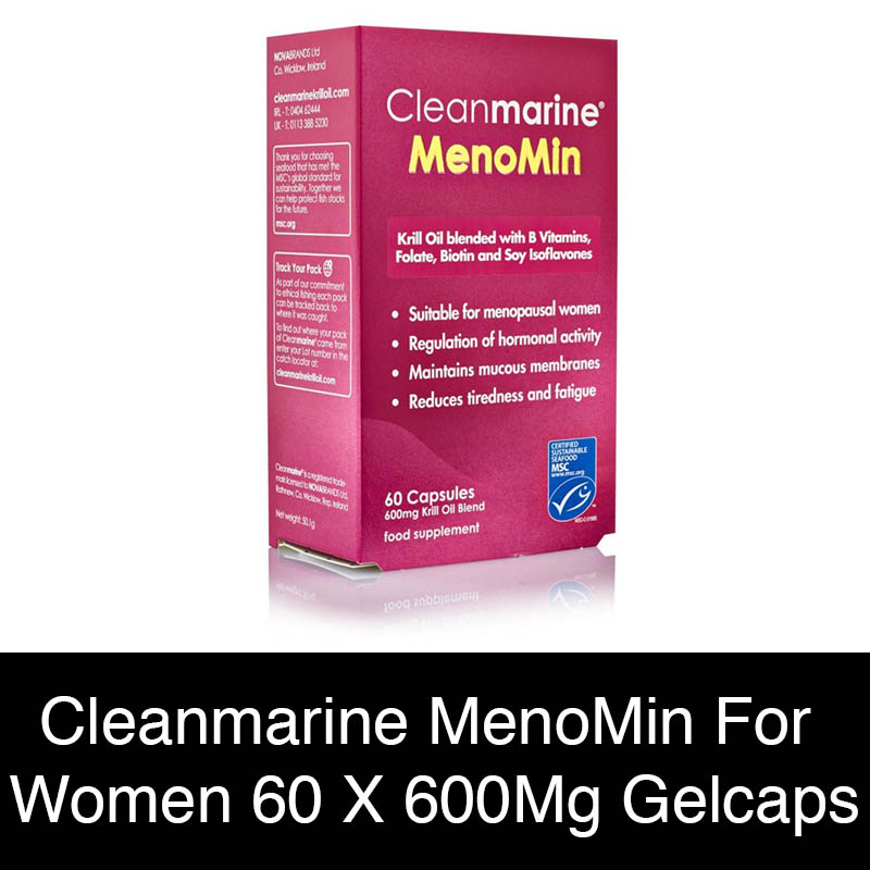 Cleanmarine Menomin For Women - 60 X 600Mg Gelcaps