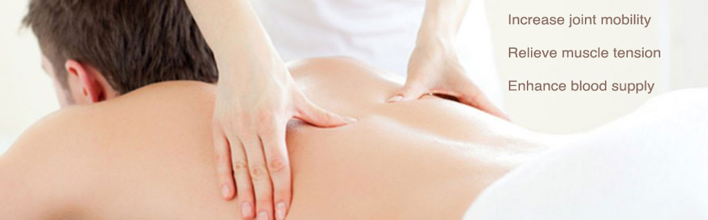 Osteopathy massage Increase joint mobility Relieve muscle tension Enhance blood supply